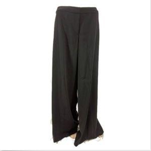 Tribal Wide Leg Pants Black Womens 6 New